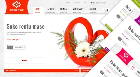 SJ Flower Store – Joomla! 2.5 Template