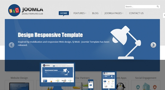 SJ Joomla3 – Free Template for Joomla! 3.0