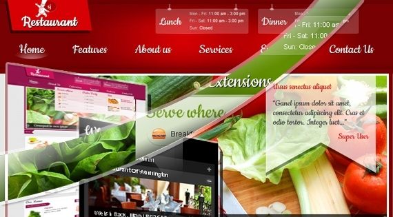 SJ Restaurant – Joomla! 2.5 Template