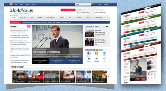 SJ WorldNews Template For Joomla 2.5