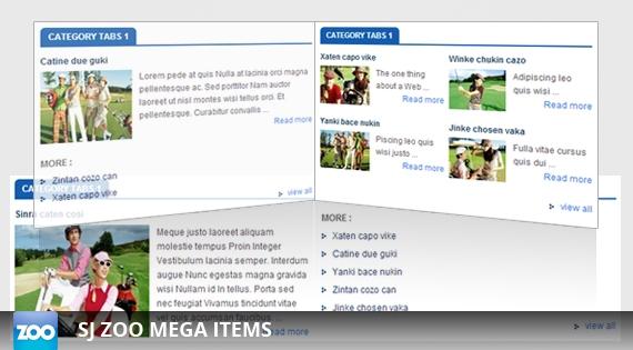 SJ Zoo Mega Items – Joomla! Module