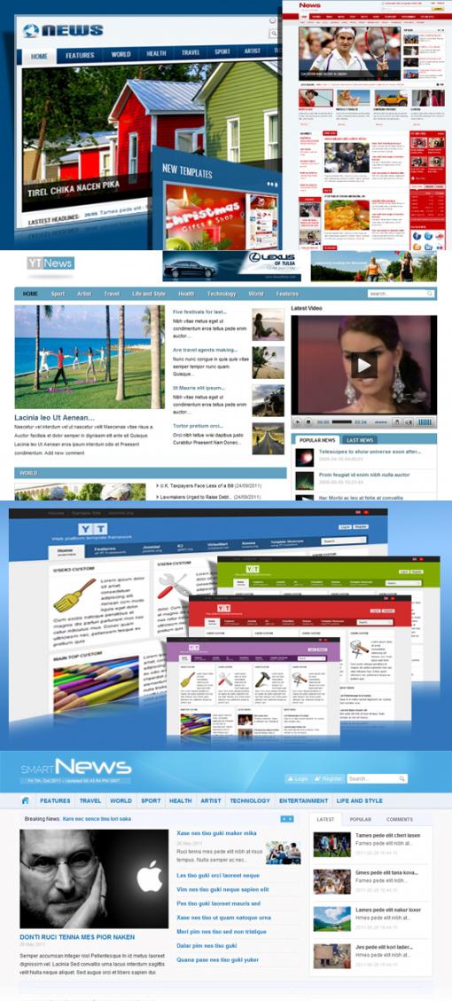 SmartAddons – Free Joomla Magazine 2.5 Template