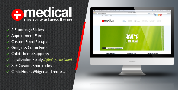 ThemeForest Medical v1.2 – Premium WordPress Theme