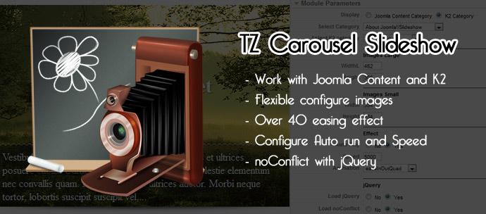 TZ Carousel Slideshow v1.1 For Joomla 2.5 & 1.5