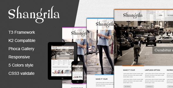 TZ Shangrila Joomla 2.5 Template