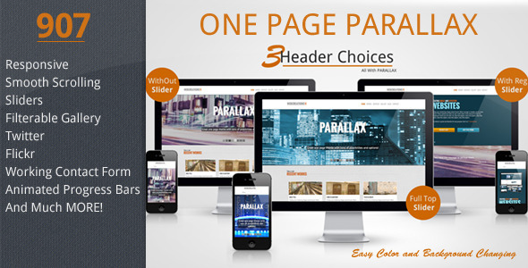 907 – Responsive One Page Parallax