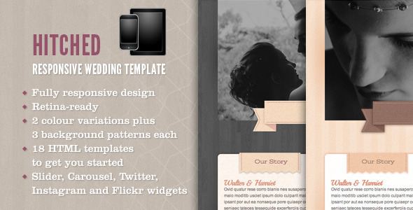 Hitched – Responsive Wedding Template