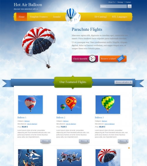 JM-Balloon Template for Joomla 2.5