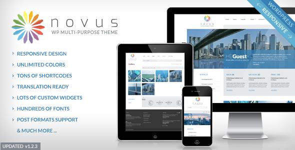 Novus Multipurpose Corporate WordPress Theme V1.2.3