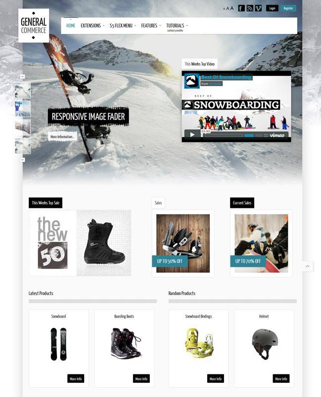 Shape5 General Commerce – November 2012 Club Template for Joomla 2.5 & 3.0