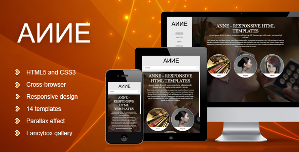 ThemeForest Anne – Responsive Template
