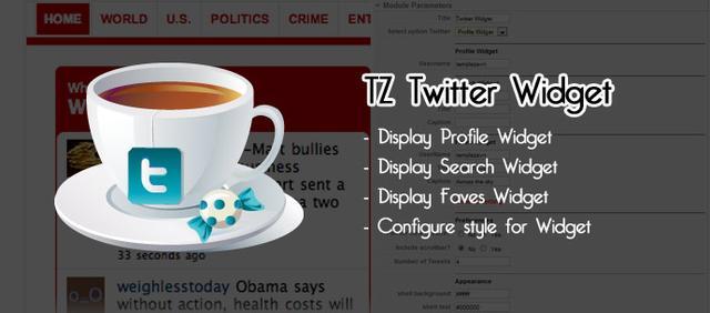 TZ Twitter Widget v1.2 for Joomla 1.5 & 2.5