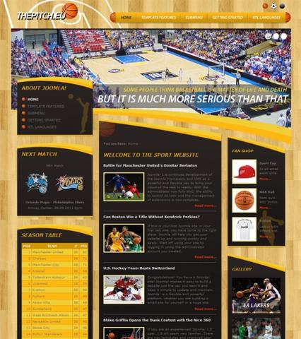 DJ-Sport01 – Template for Joomla 2.5