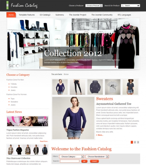 JM-Fashion-Catalog template for Joomla 2.5