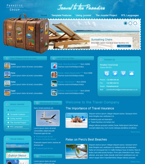 Joomla-Monster DJ-Travel template for Joomla 2.5