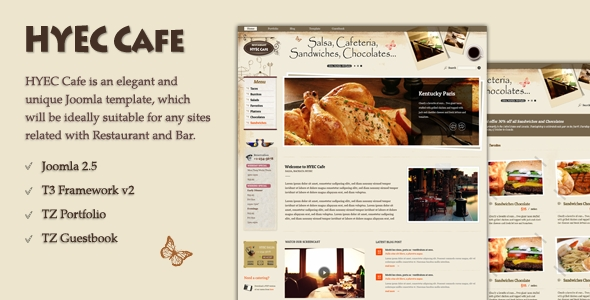 TemPlaza – HYEC Cafe template for Joomla 2.5