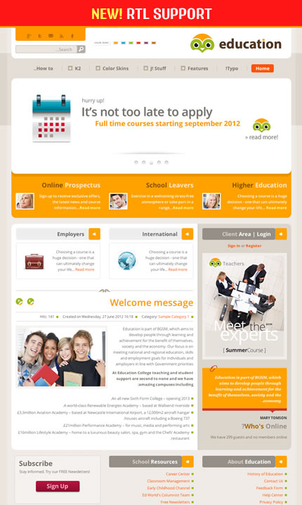 BT Education academy Template for Joomla 3.0