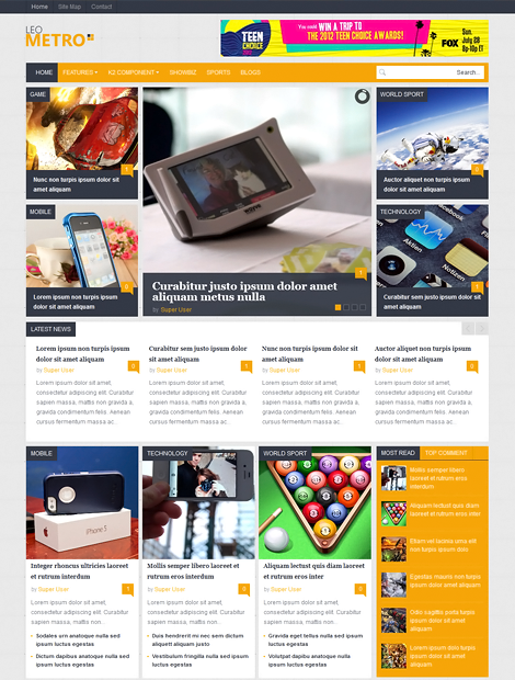 LeoTheme – Leo Metro template for Joomla 3.0