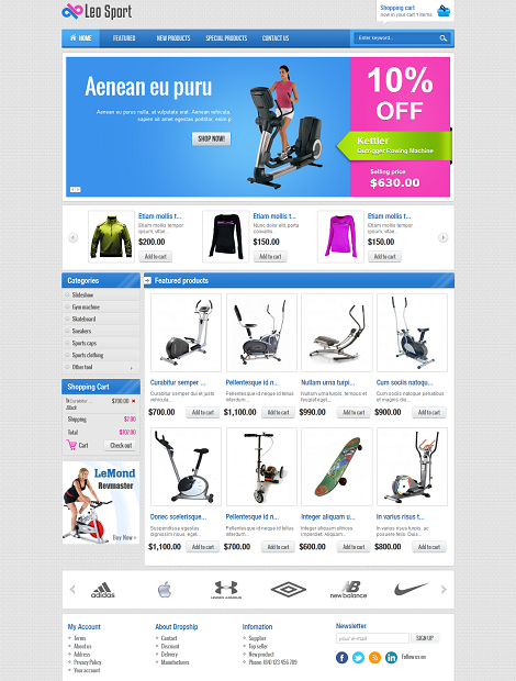 LeoTheme – Leo Sport Template For Joomla 2.5