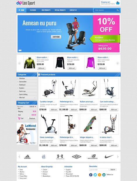 LeoTheme – Leo Sport Template For Joomla 2.5