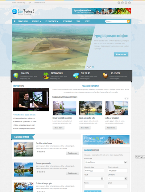 LeoTheme – Leo Travel2 template for Joomla 2.5