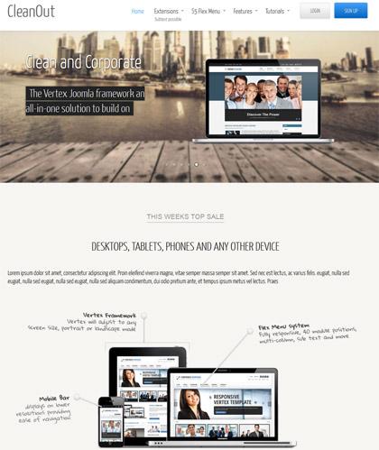 Shape5 – CleanOut – January 2013 Joomla Club Template