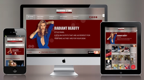 SJ Fashion Store Responsive Template v1.2 for Joomla 2.5