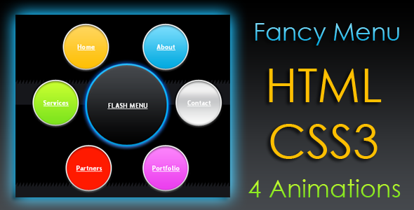 CodeCanyon – Animated Fancy Menu – HTML & CSS3