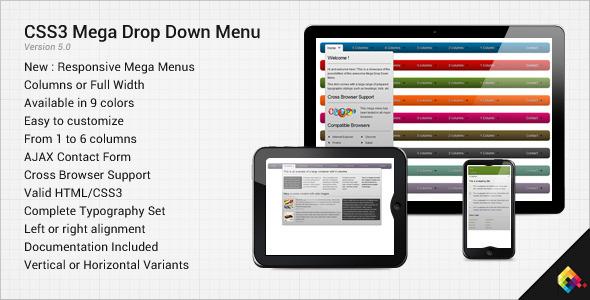 CodeCanyon – CSS3 Mega Drop Down Menu