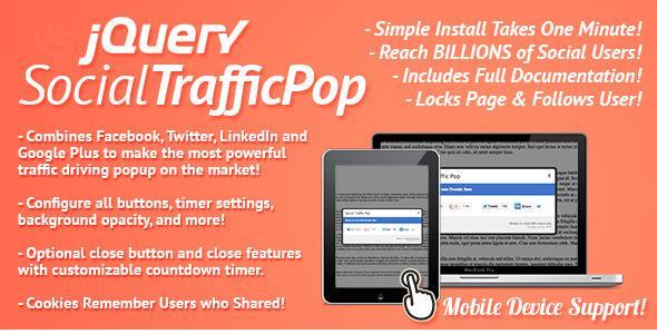 CodeCanyon – Social Traffic Pop v3.1 For WordPress