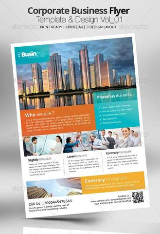 Corporate Business Flyer Template & Design Vol_01