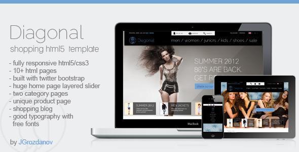 Diagonal – HTML5 Responsive Store Template
