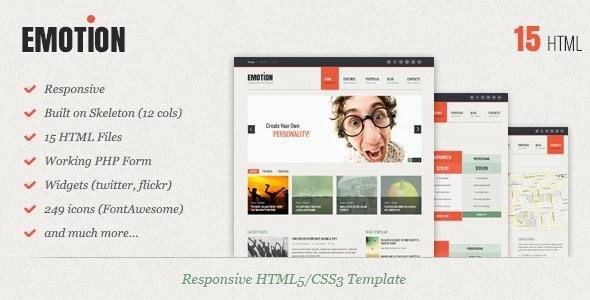 Emotion – Responsive HTML5/CSS3 Template