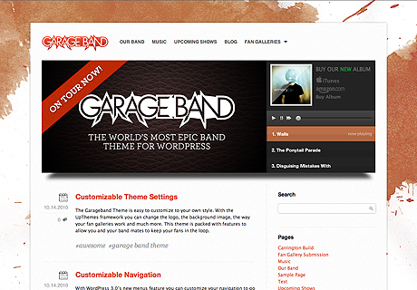 Garage Band – Up Themes for WordPress
