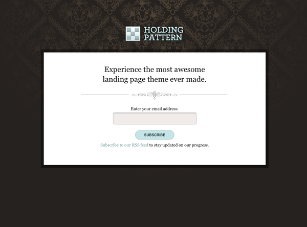 Holding Pattern – Up Themes for WordPress