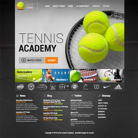 HotJoomlaTemplates – HOT Tennis for Joomla 2.5 & 3.0