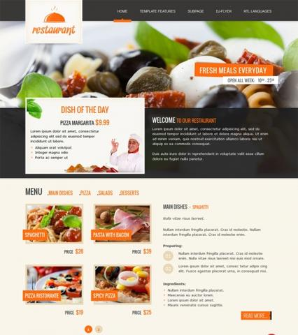JM Italian Restaurant Template for Joomla 2.5