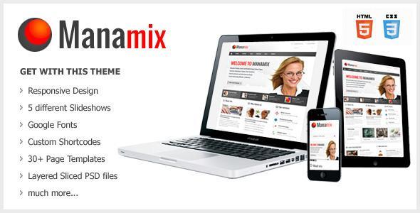 Manamix – Responsive Multipurpose Template