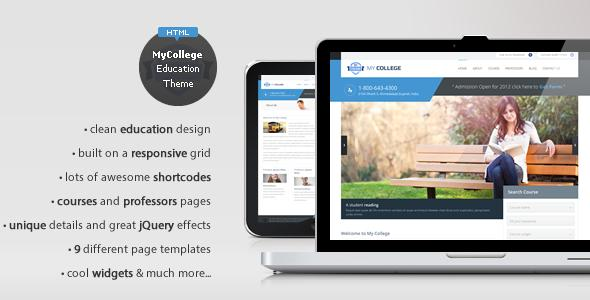 My College – Responsive Education HTML Template