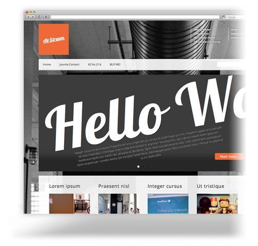 PixelsParadise – AirStream Premium Template For Joomla 1.6 & 1.7 & 2.5 & 3.0