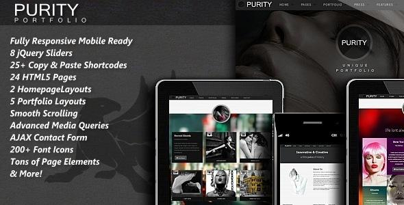 Purity – Responsive HTML5 Template