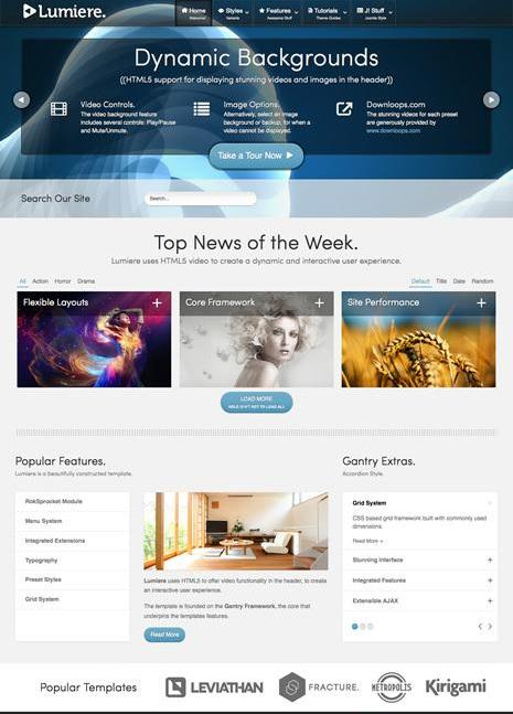 RT Lumiere Template for Joomla 2.5 & 3.0