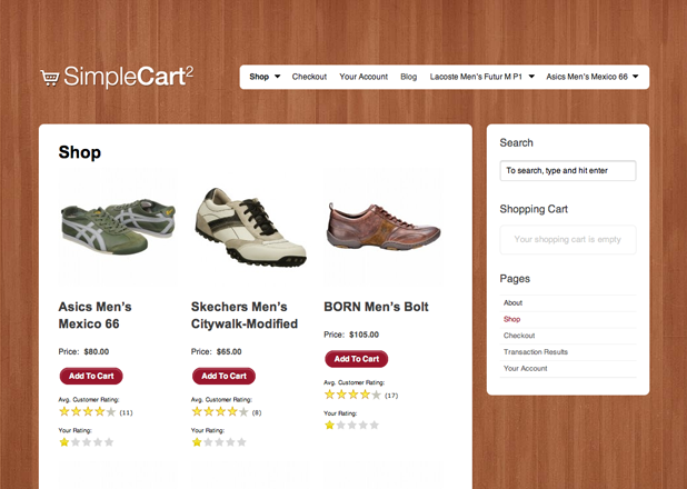 SimpleCart – Up Themes for WordPress