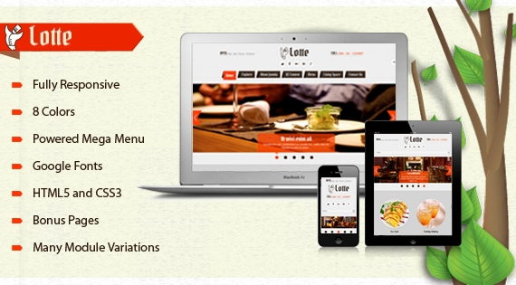 SJ Lotte Responsive Template for Joomla 2.5