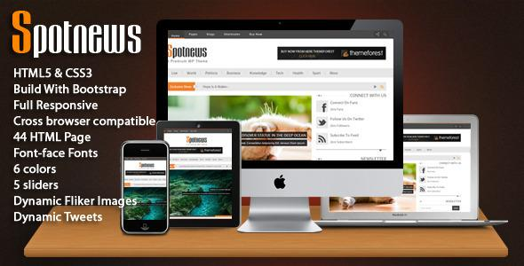 Spotnews – Multi-Purpose Responsive Template