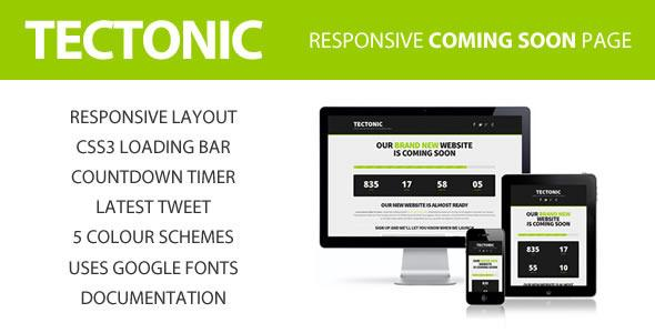 Tectonic – Responsive Coming Soon Page