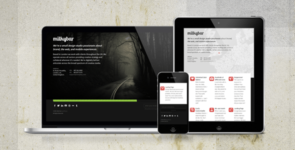 ThemeForest – Milkybar Specialty Pages
