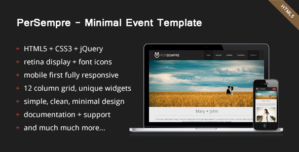 ThemeForest – PerSempre – Minimal Event Template