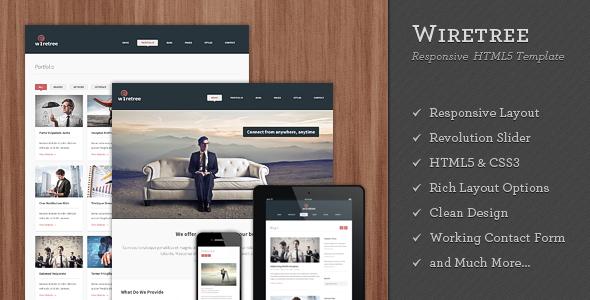 Wiretree – Responsive HTML5 Template