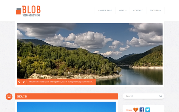 WrapBootstrap – Blob – WordPress Blog Theme